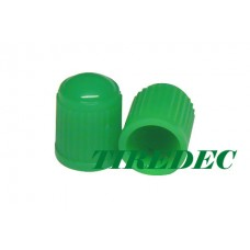 Green Plastic Tire Valve Caps (PK 1000)