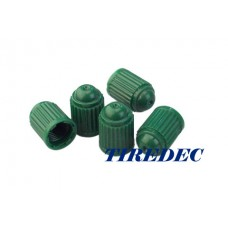 Green Plastic Tire Valve Caps (800/bag)