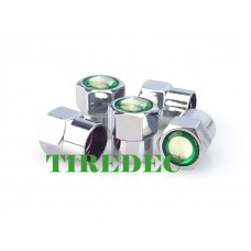 Green Circle Tire Valve Caps (Pkg Qty 200)