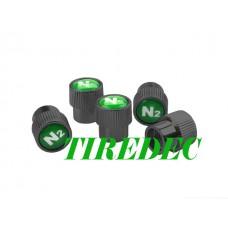 Black Nickel Plated N2 Valve Stem Caps, 200pcs