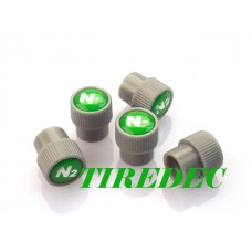 Grey Valve Stem Caps with Nitrogen Logo, 200pcs