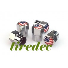 US Flag Tire Valve Caps (200/bag)